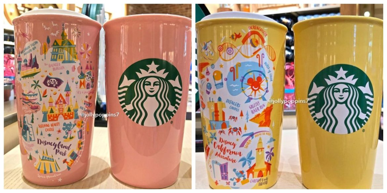 Two new Disneyland Starbucks ceramic tumblers now available