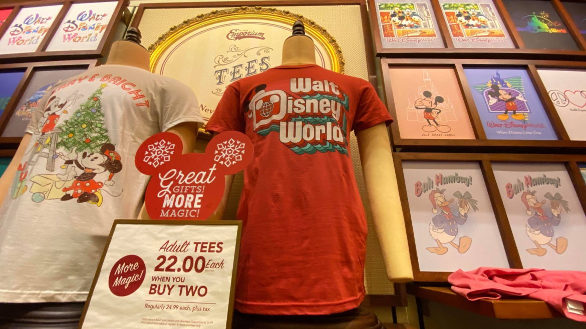New Retro Walt Disney World Holiday T-shirt at the Magic Kingdom!