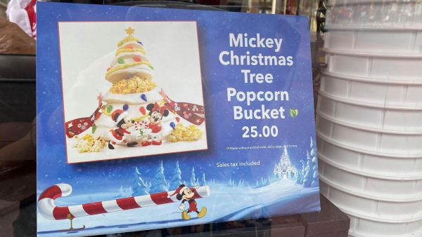 All new Mickey Christmas Tree Popcorn Bucket at the Magic Kingdom 3