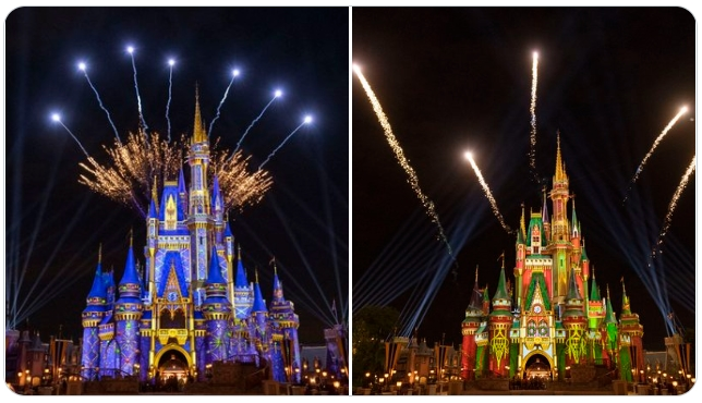 Disney World surprises guests with fireworks during Cinderella Castle lighting