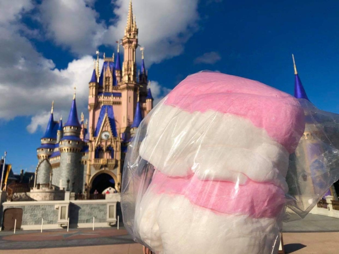 Holiday Cotton Candy at the Magic Kingdom