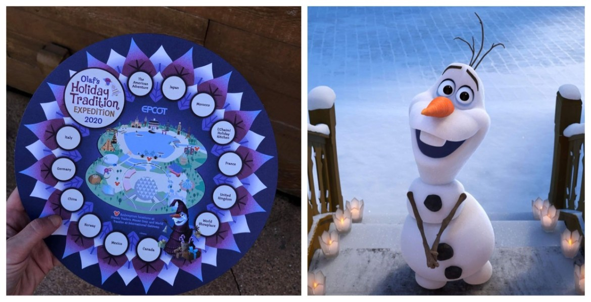 New Olaf's Holiday Tradition Expedition Scavenger Hunt debuts in Epcot