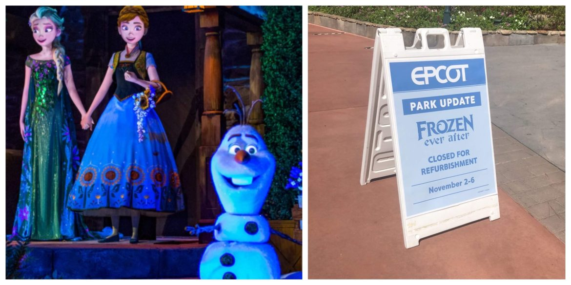 Frozen Ever After in Epcot is Closed for a Short Refurbishment