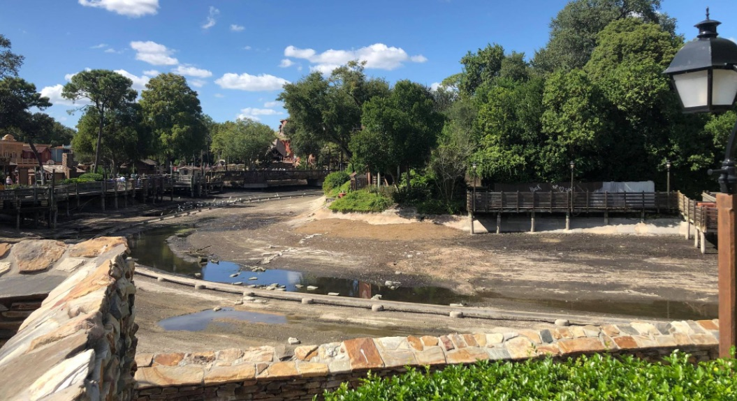 Rivers of America in the Magic Kingdom drained for Refurbishment