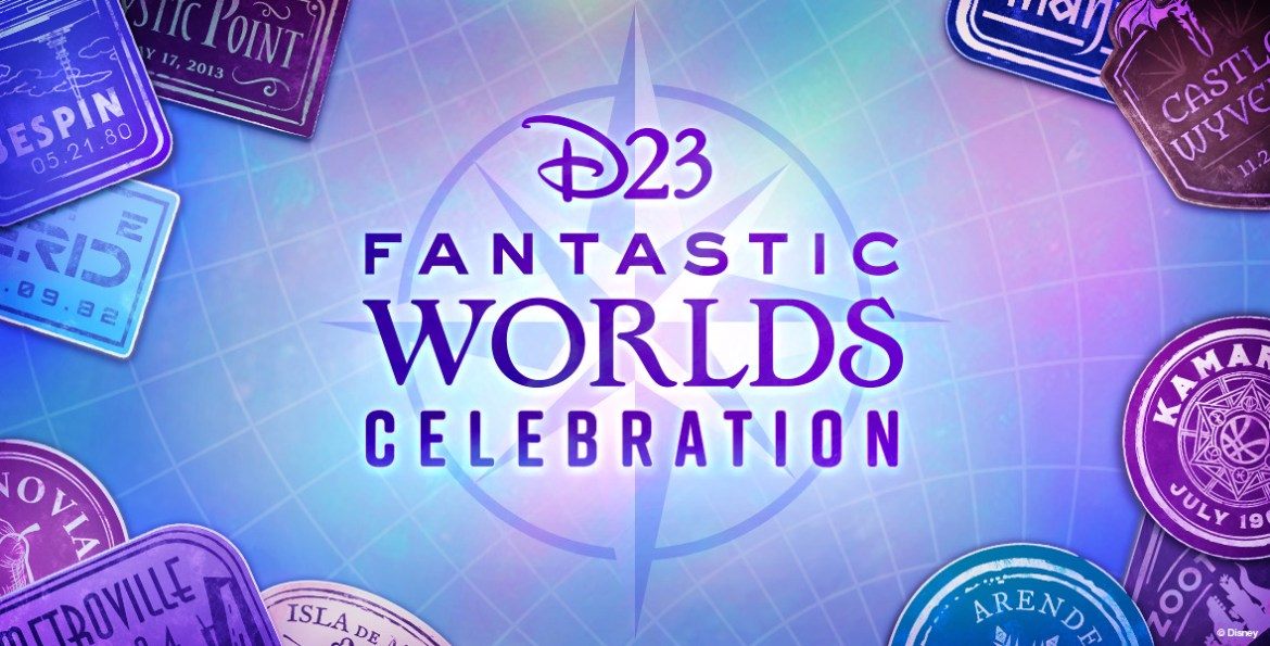 Lineup of presenters for D23 Fantastic Worlds Celebration