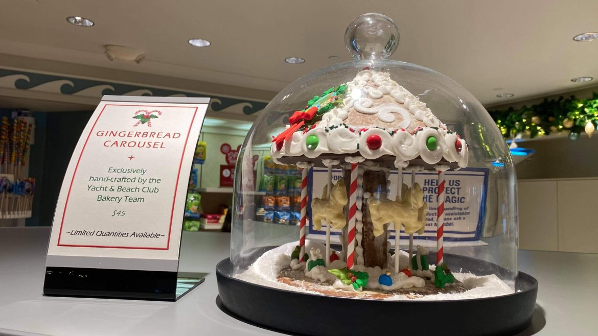 Gingerbread Carousel Available at Disney's Yacht & Beach Club Resort for only $45!