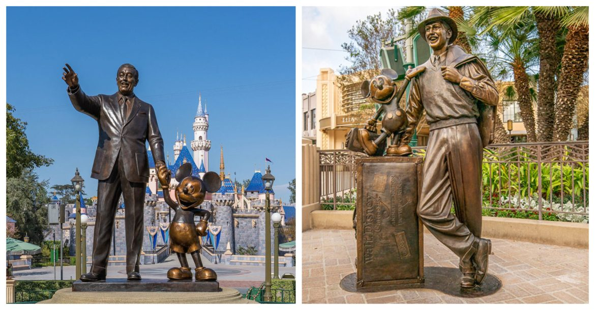 Two Disney statues in the Disneyland Resort have been restored to their former glory!