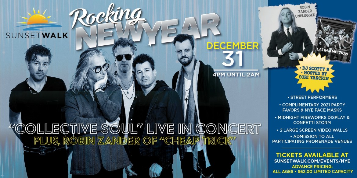 The Promenade at Sunset Walk to Host NYE Concert Starring 'Collective Soul'