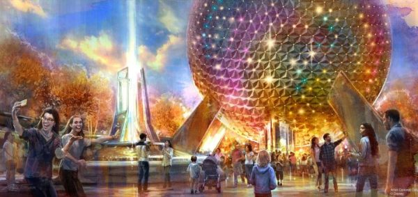 Epcot's Spaceship Earth Fountain will have new lighting to Welcome Guests to the park 1