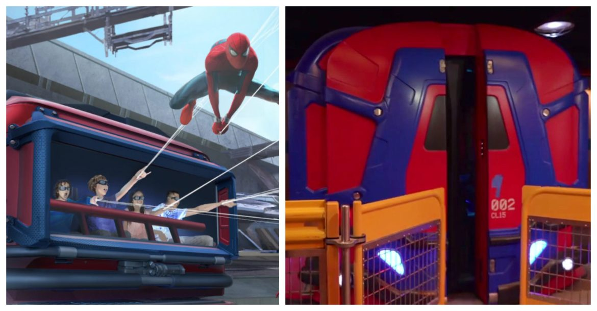 First Look at the ride vehicles for the WEB SLINGERS: A Spider-Man Adventure