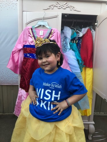 Disney Grants A Special Make A Wish Visit From Belle 2