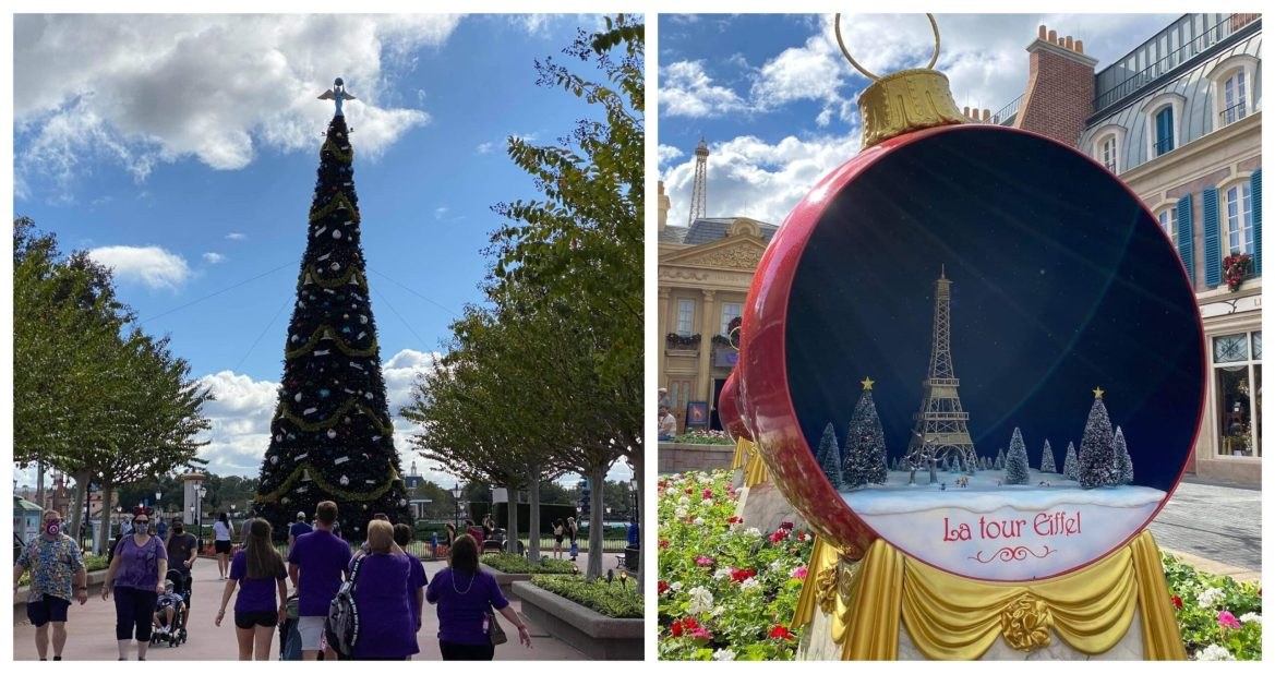 Holiday Decorations Have Arrived At Epcot!