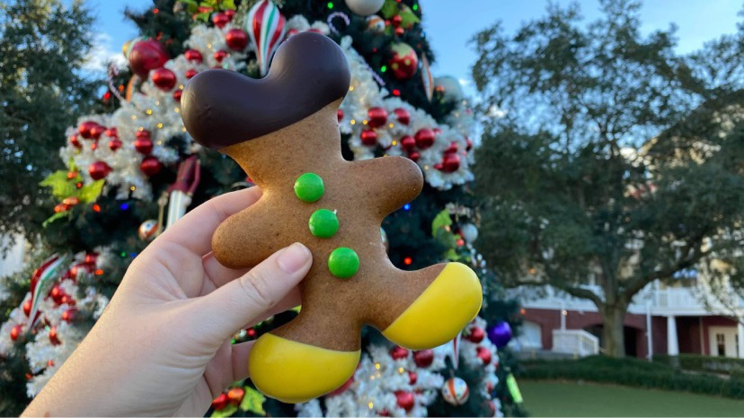 New Holiday Gingerbread Mickey Cookie At Disney's Boardwalk Bakery