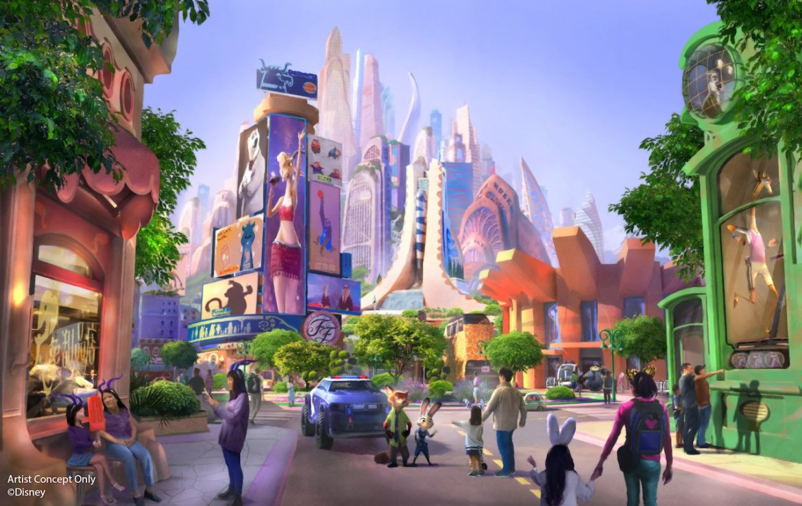 Construction Photos of the metropolis of Zootopia from Shanghai Disney Resort