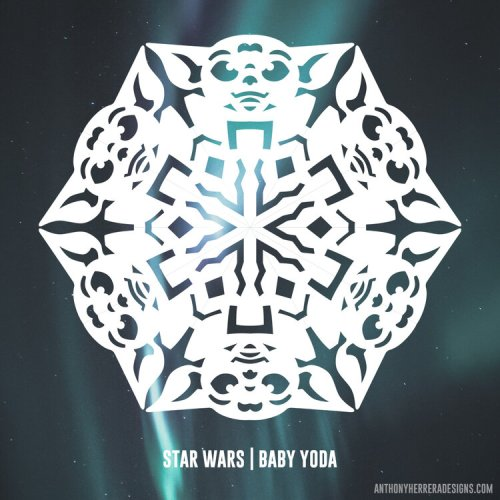 Make your own Star Wars Paper Snowflakes 16