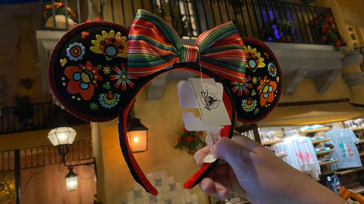 Floral Mexico Minnie Ears Make Their Debut At Epcot's World Showcase
