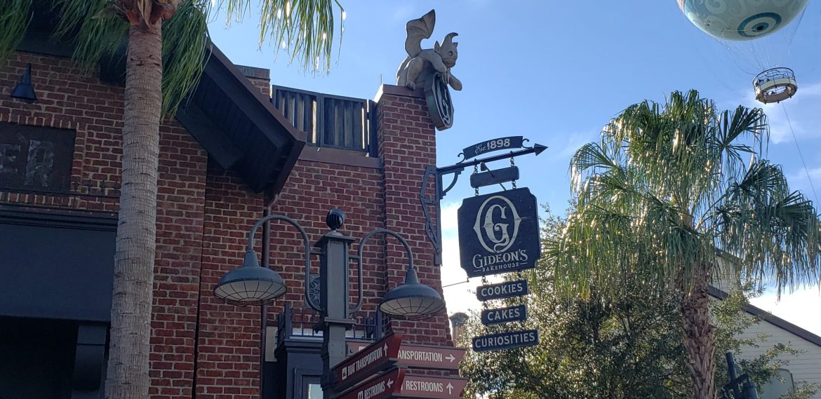 Gideon's Bakehouse at Disney Springs will be temporarily closed effective this evening