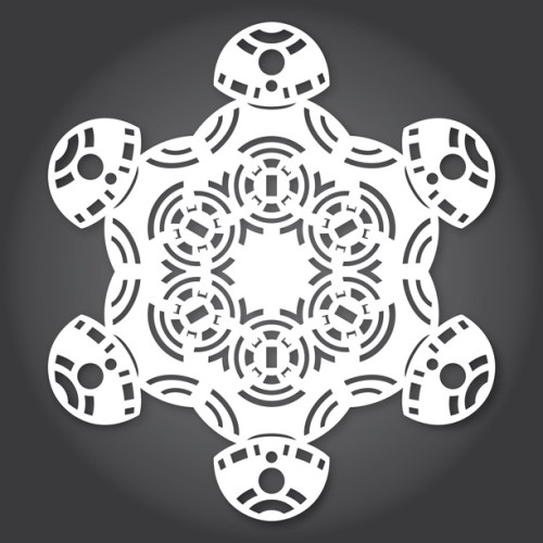 Make your own Star Wars Paper Snowflakes 10