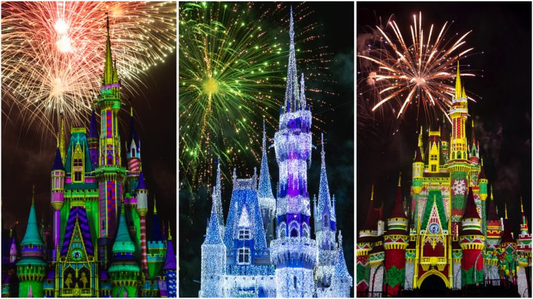 See a Virtual Viewing of Minnie's Wonderful Christmastime Fireworks from the Magic Kingdom