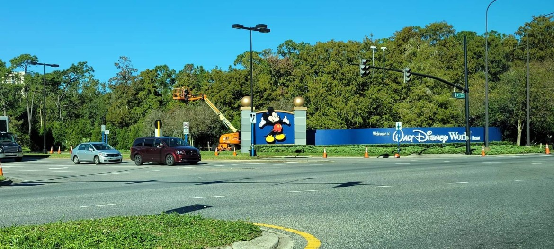Construction Update on Disney Springs Entrance to Walt Disney World