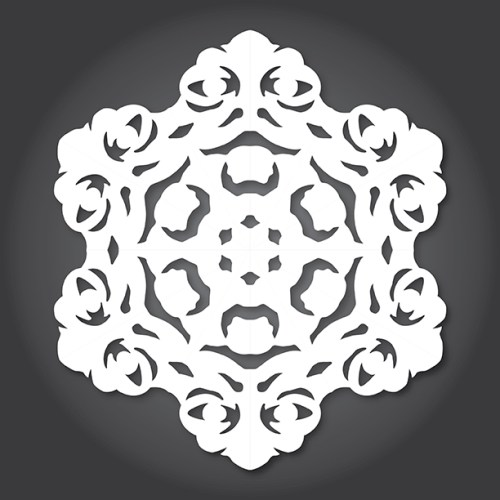 Make your own Star Wars Paper Snowflakes 9