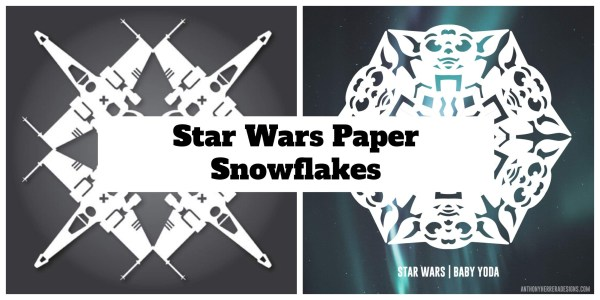 Make your own Star Wars Paper Snowflakes 1