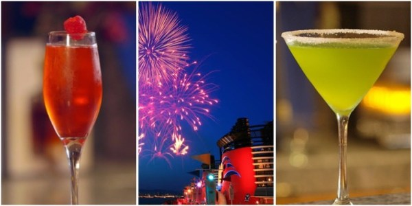 disney cruise line new years eve cocktails