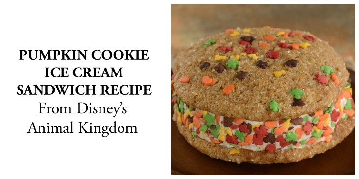 Pumpkin Cookie Ice Cream Sandwich Recipe From Disney's Animal Kingdom
