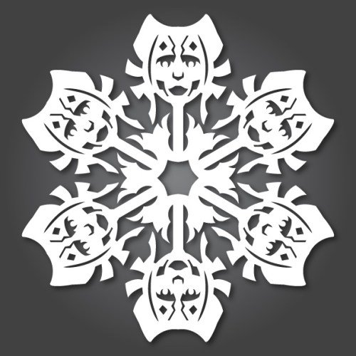 Make your own Star Wars Paper Snowflakes 4