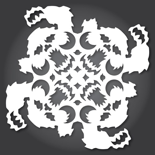 Make your own Star Wars Paper Snowflakes 8