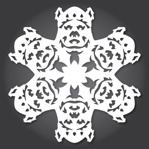 Make your own Star Wars Paper Snowflakes 2