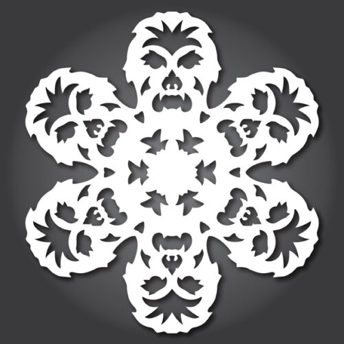 Make your own Star Wars Paper Snowflakes 3