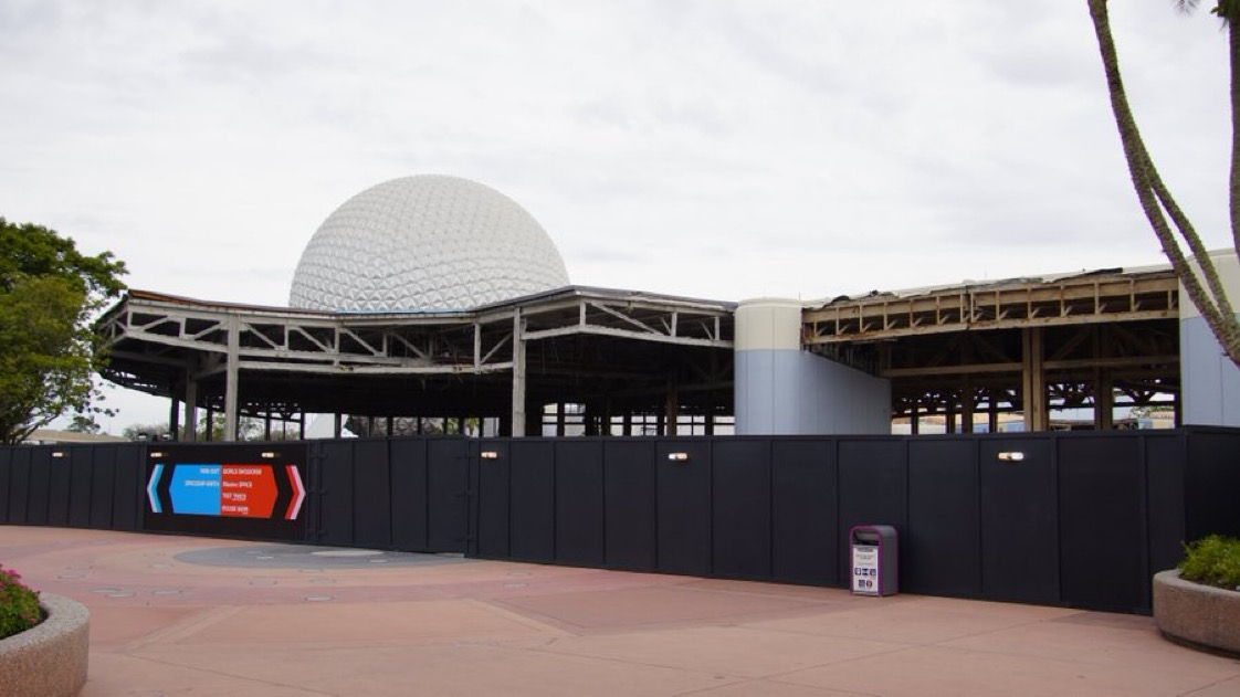 Demolition continues on Innoventions West in Epcot