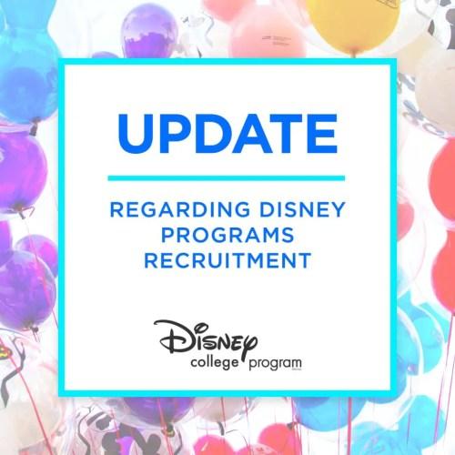 Disney Issues a statement regarding Disney College Program Recruitment 1