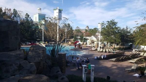 Disney's Saratoga Springs paddock pool waterslide closed for refurbishment 1