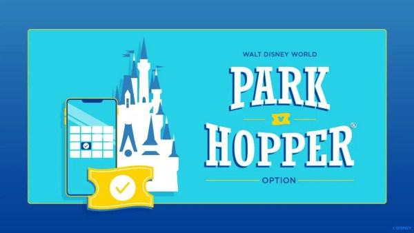 Park Hopper Hours now showing on Disney World Calendar 1