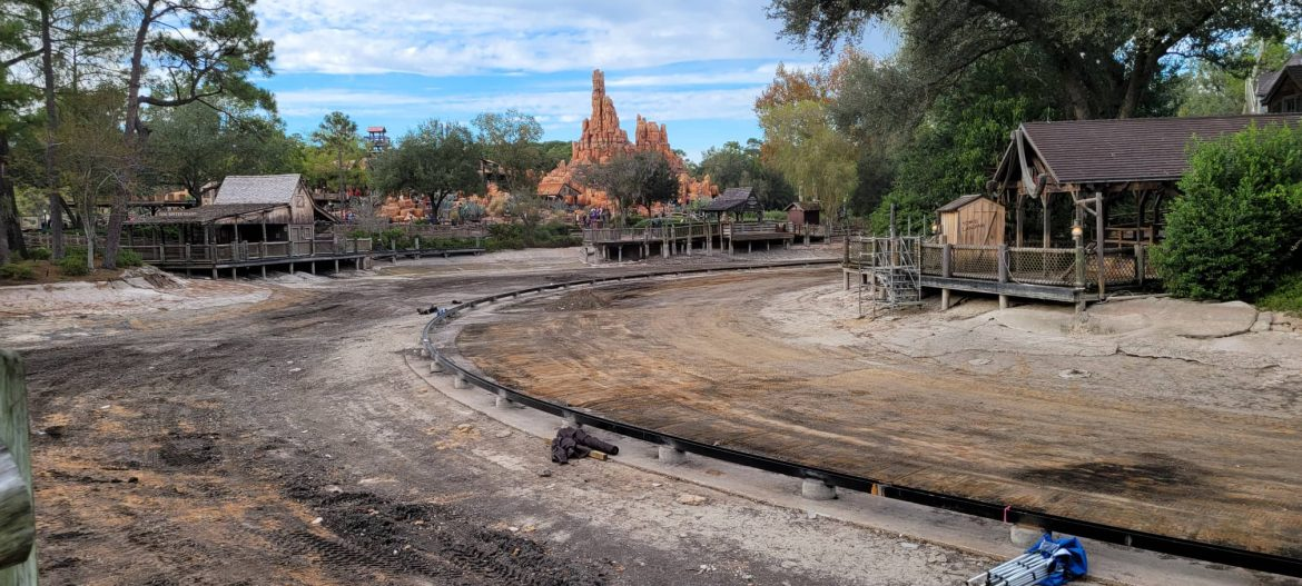 Construction continues for Rivers of America in the Magic Kingdom