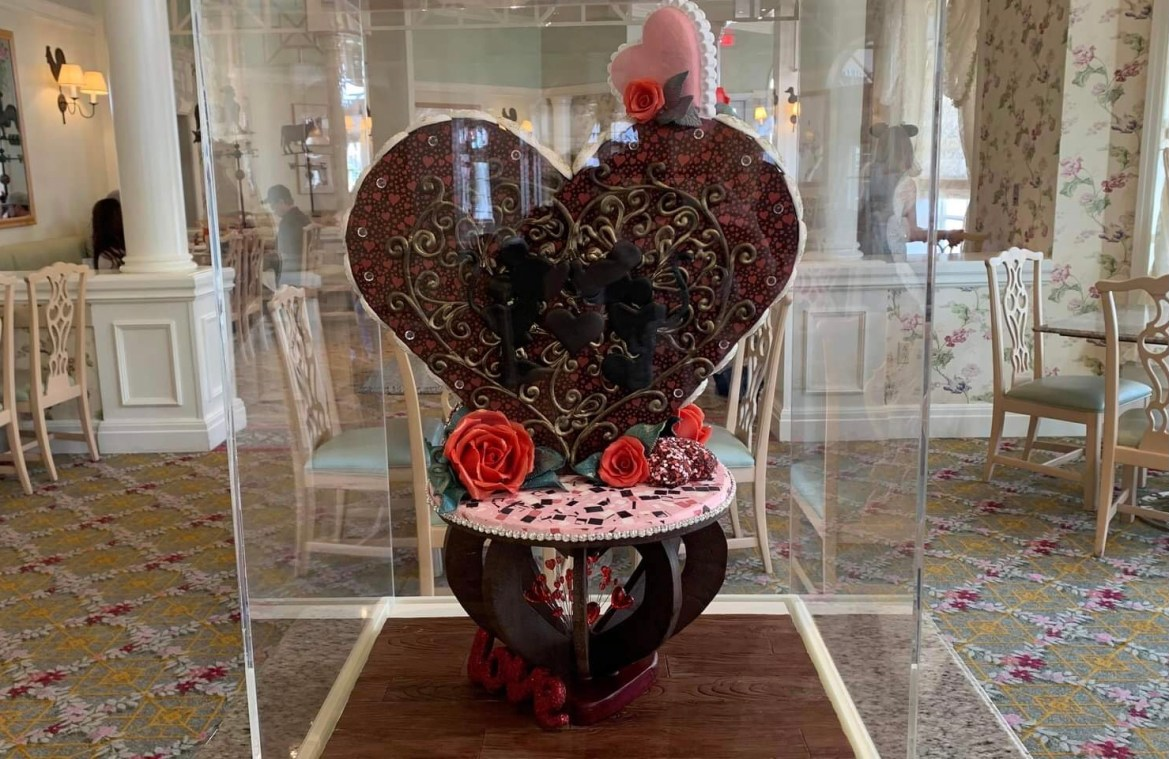 New Valentine's Day Chocolate Sculpture at the Grand Floridian
