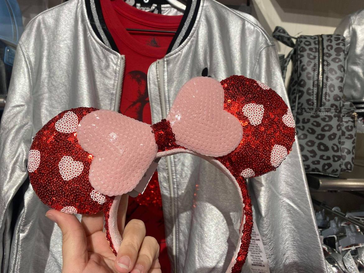 Love Is In The Air With The Sparkling New Valentine's Day Minnie Ears!