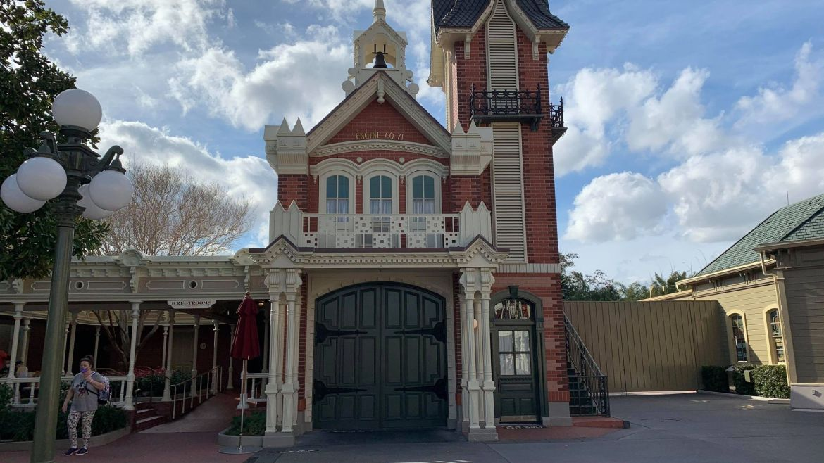 Signage removed from Firehouse. Sorcerers of the Magic Kingdom Now Closed