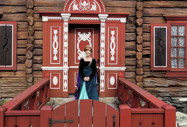 Anna is Greeting Guests in Epcot's Norway Pavilion