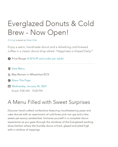 Everglazed Donuts & Cold Brew Opens today in Disney Springs! 2