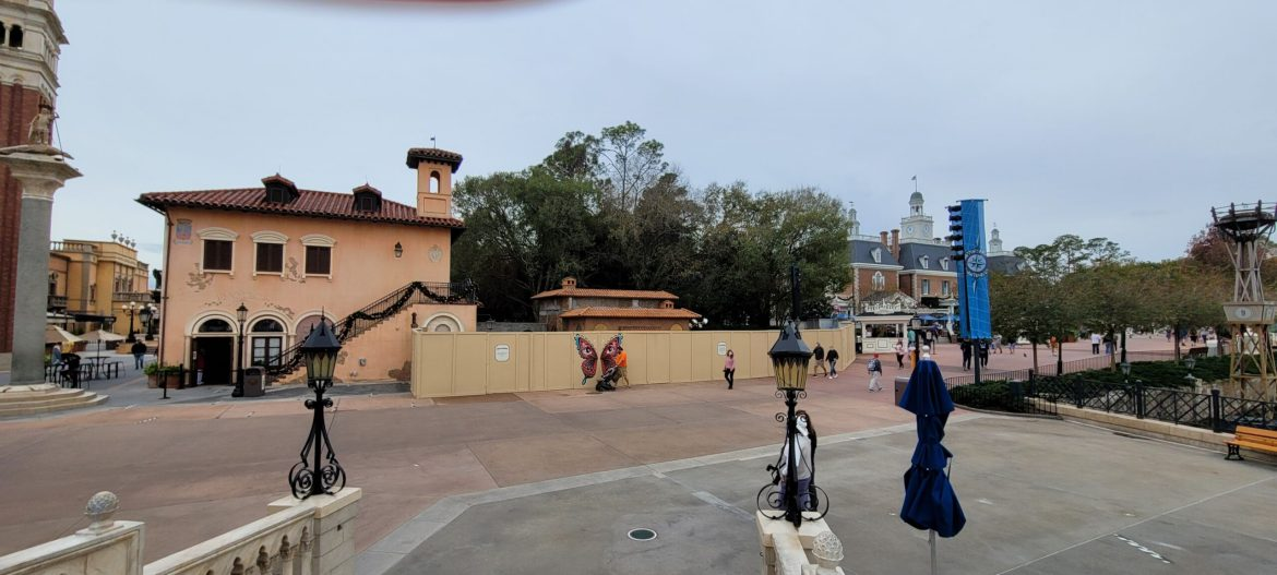 Construction continues on new Italy Pavilion Kiosk