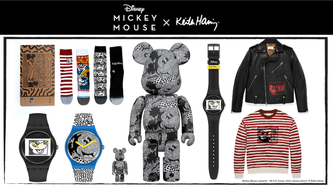 Mickey Mouse New Product line from Pop Artist Keith Haring