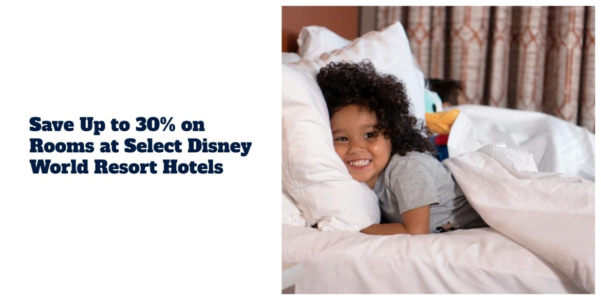Save Up to 30% on Rooms at Select Disney World Resort Hotels this spring!