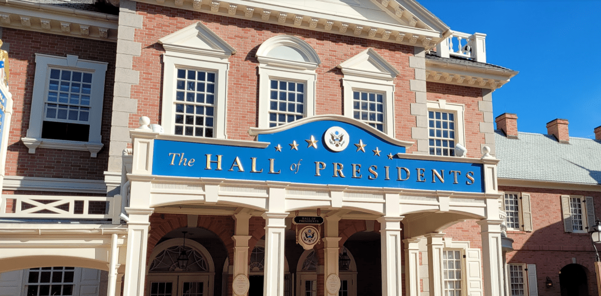 Hall of Presidents is closed for refurbishment at the Magic Kingdom
