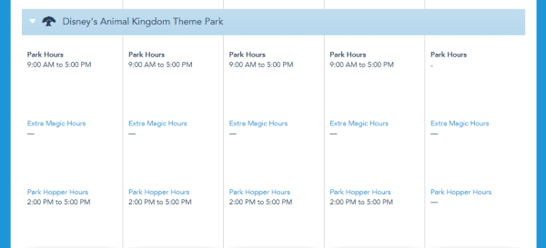 Disney World Theme Park Hours have been released for the first week of April 5