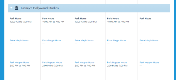 Disney World Theme Park Hours have been released for the first week of April 4