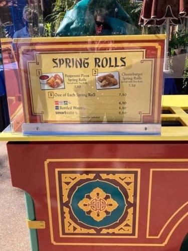 spring rolls cart