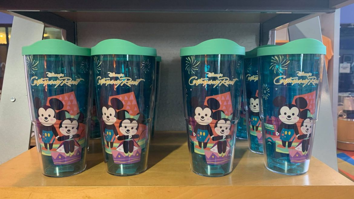New Contemporary Resort Tumbler Featuring Mickey And Minnie